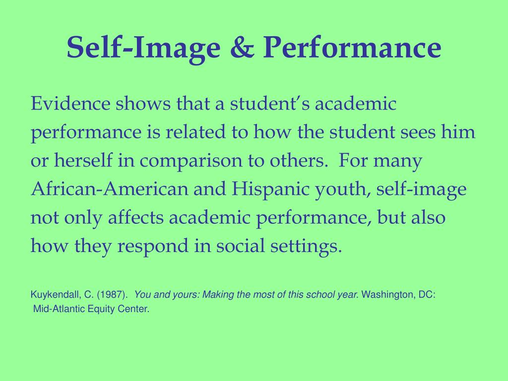 Self-Image & Performance