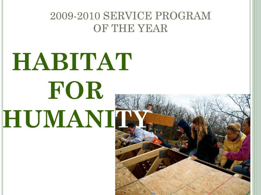 2009-2010 SERVICE PROGRAM