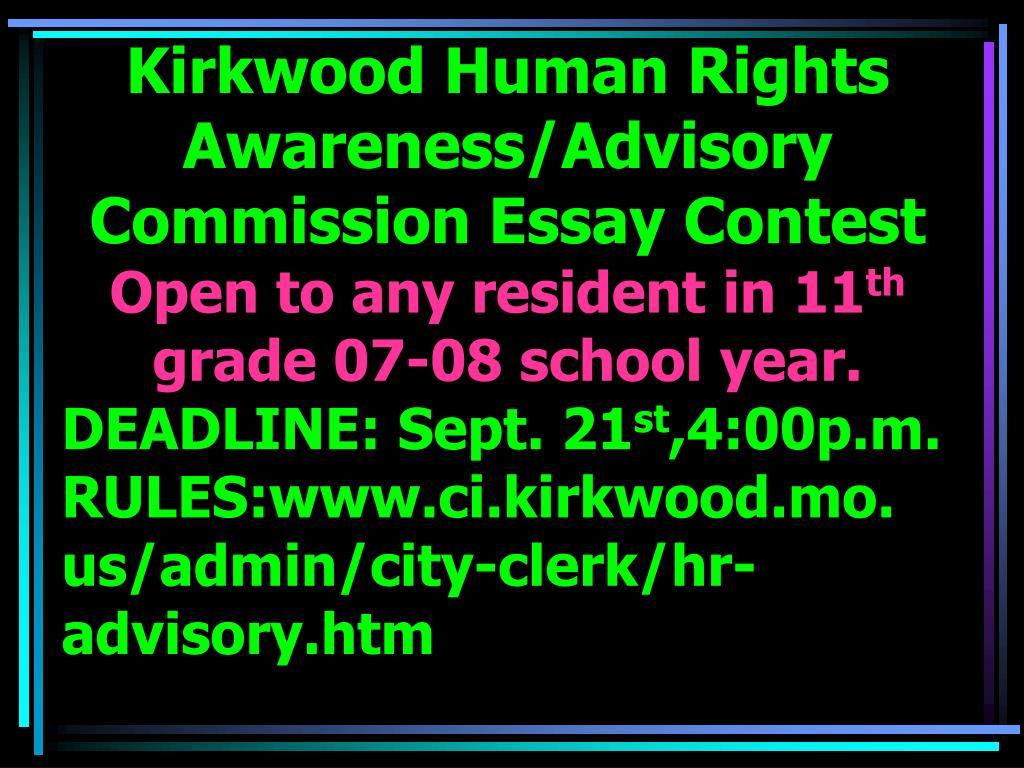 Kirkwood Human Rights Awareness/Advisory