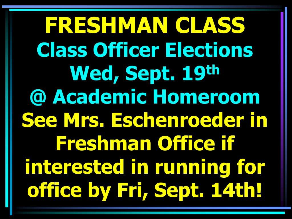 FRESHMAN CLASS