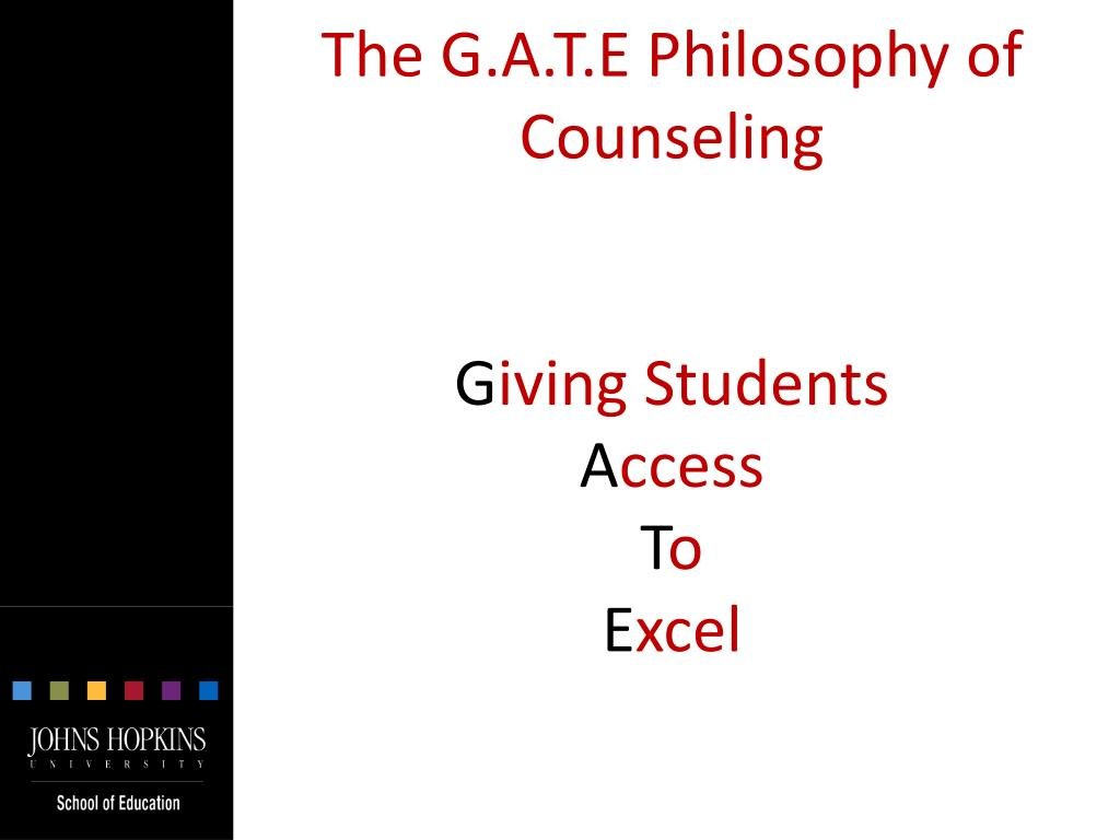 The G.A.T.E Philosophy of Counseling