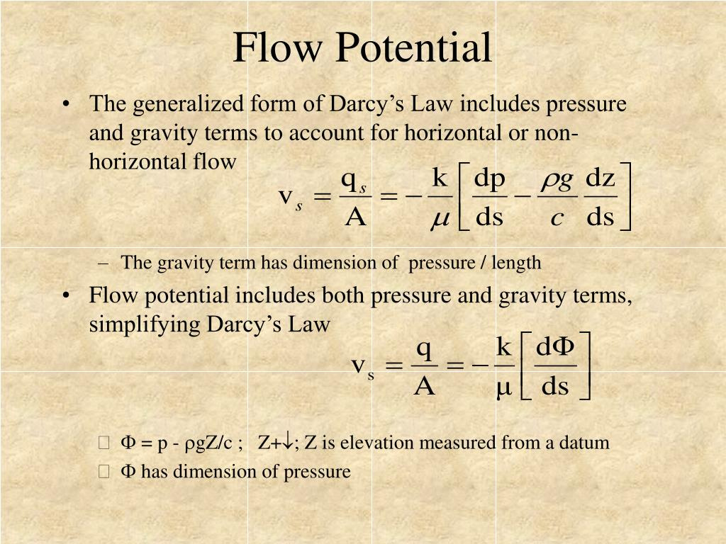 Flow Potential