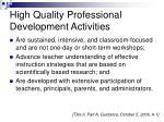 high quality professional development activities19