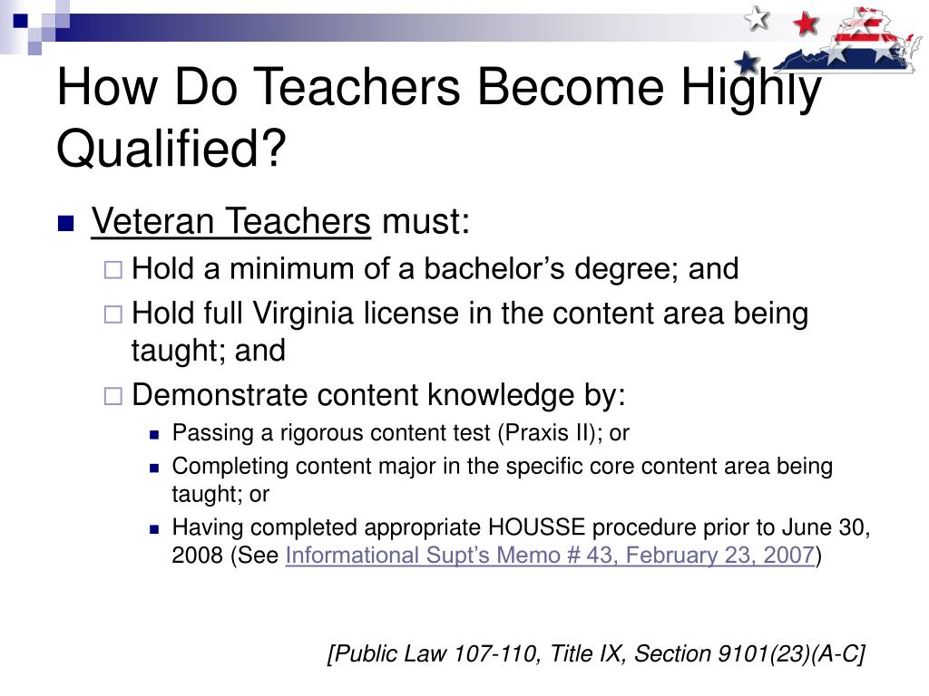 How Do Teachers Become Highly Qualified?