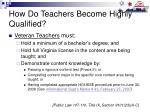 how do teachers become highly qualified8