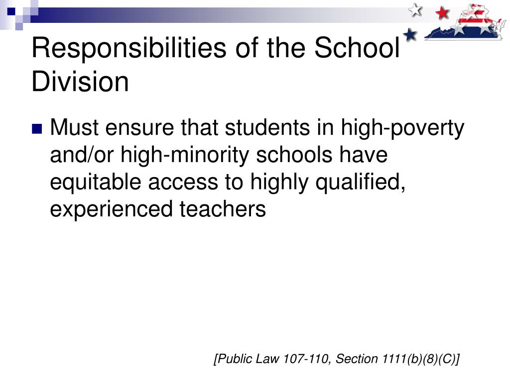 Responsibilities of the School Division