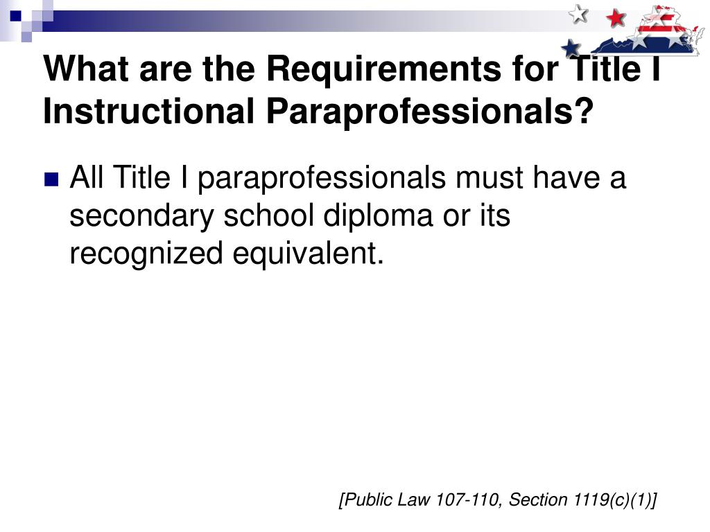 What are the Requirements for Title I Instructional Paraprofessionals?