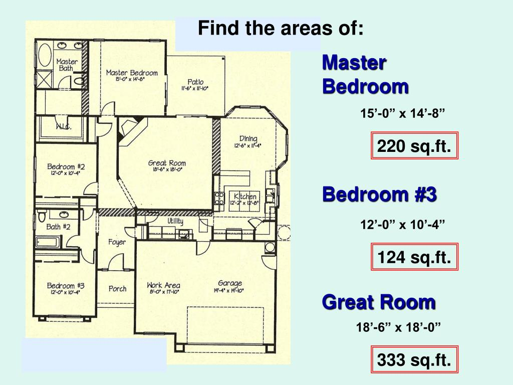 Find the areas of: