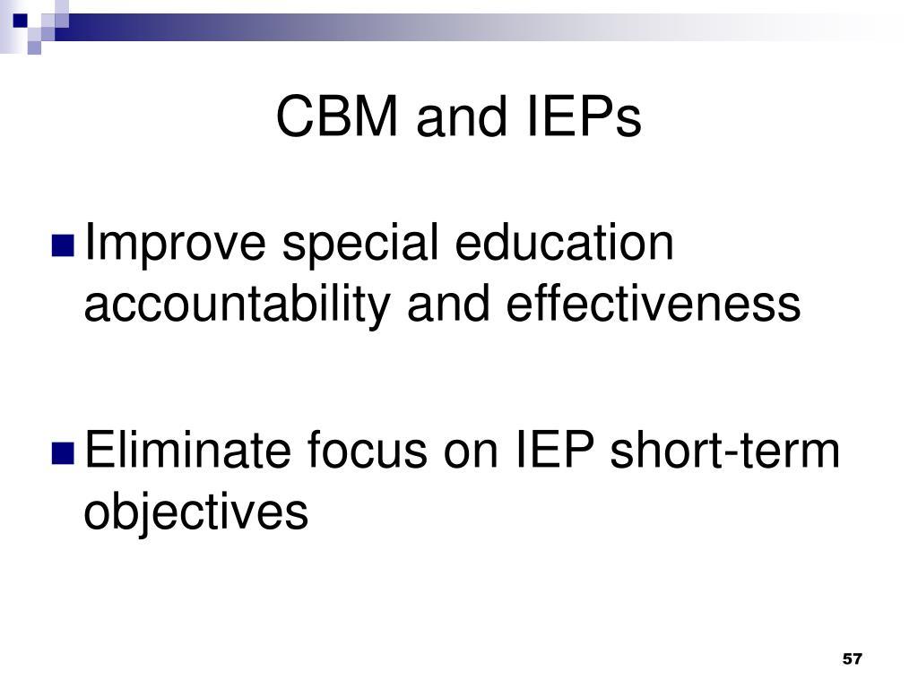 CBM and IEPs