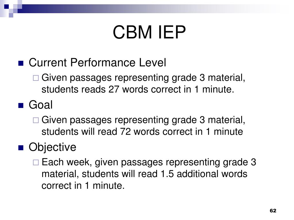 CBM IEP