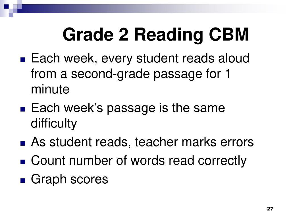 Grade 2 Reading CBM