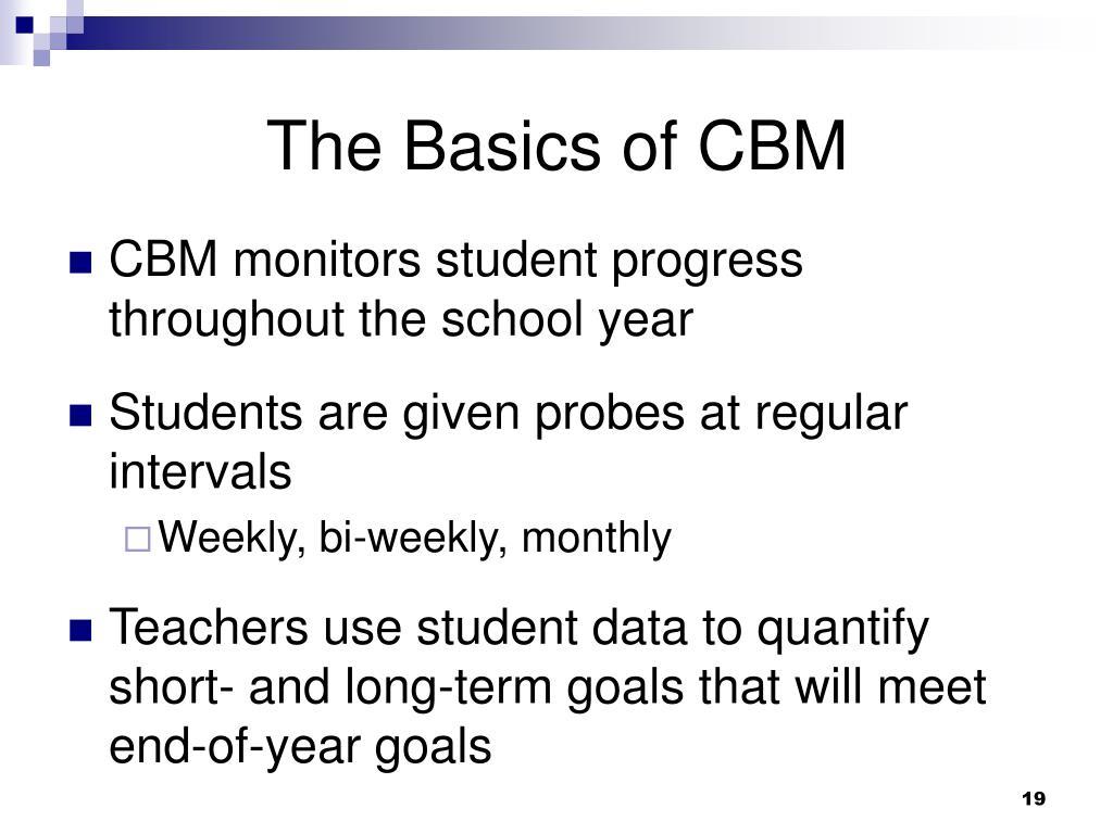 The Basics of CBM