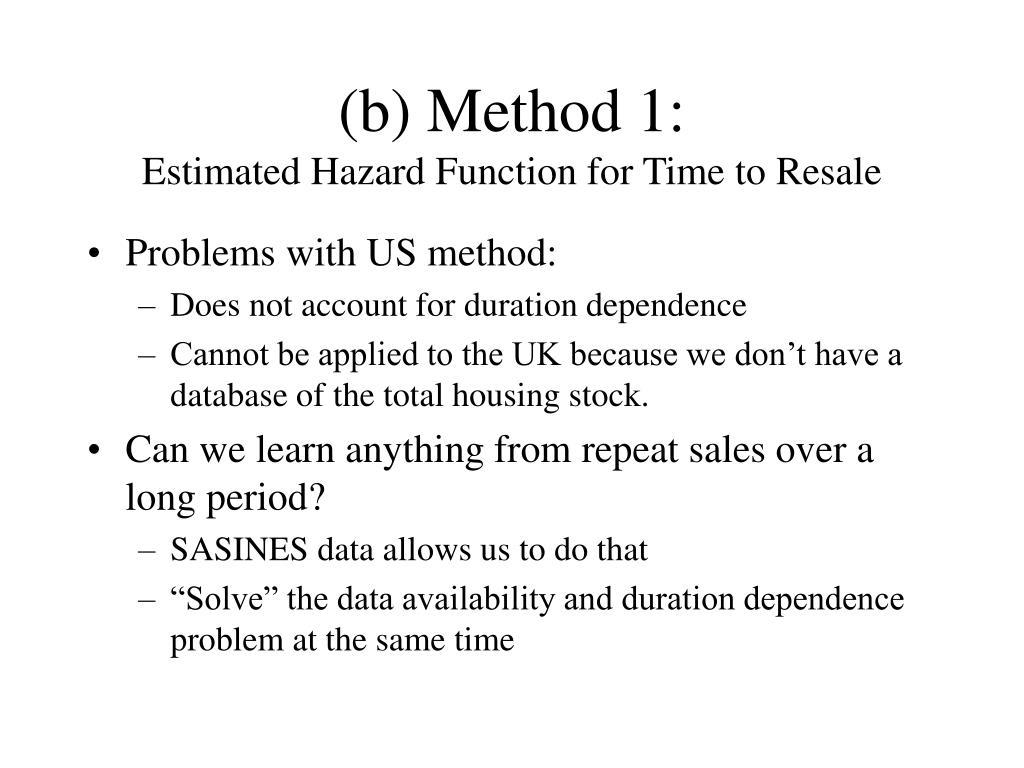(b) Method 1: