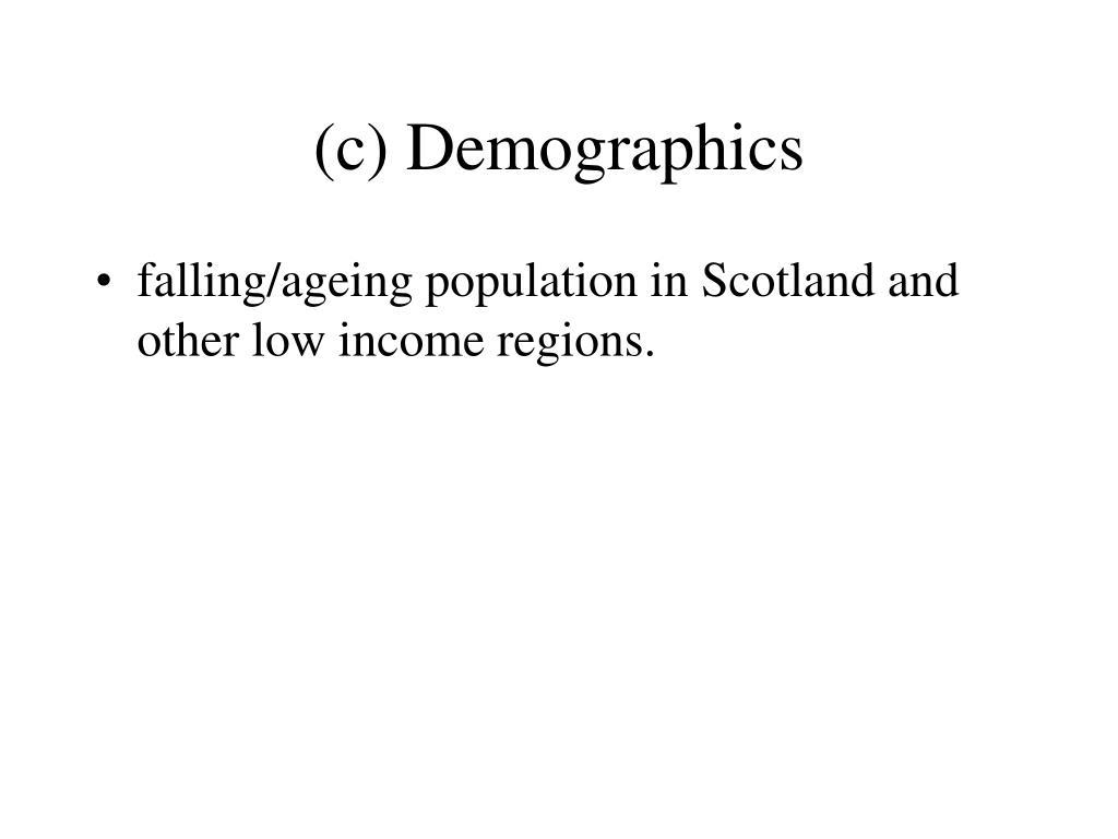 (c) Demographics