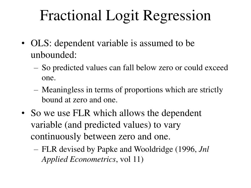Fractional Logit Regression