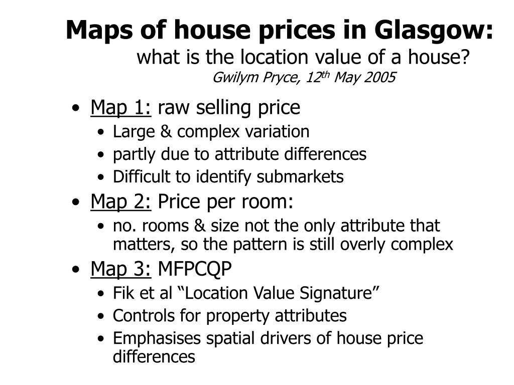 Maps of house prices in Glasgow: