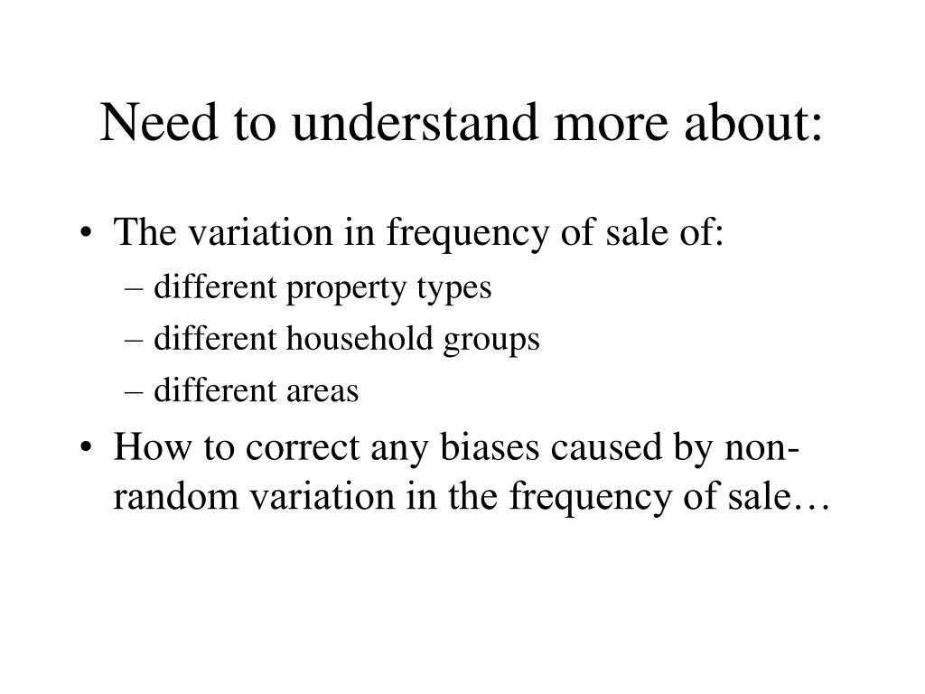 Need to understand more about: