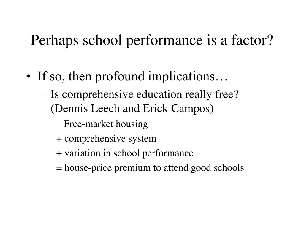 Perhaps school performance is a factor?