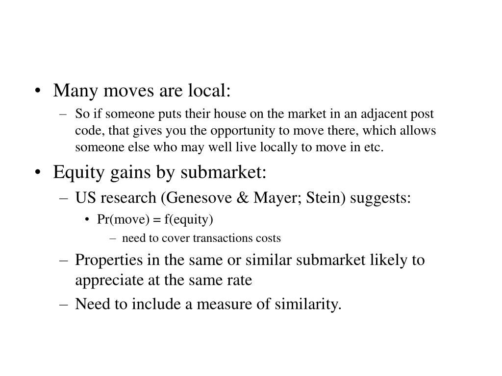 Many moves are local: