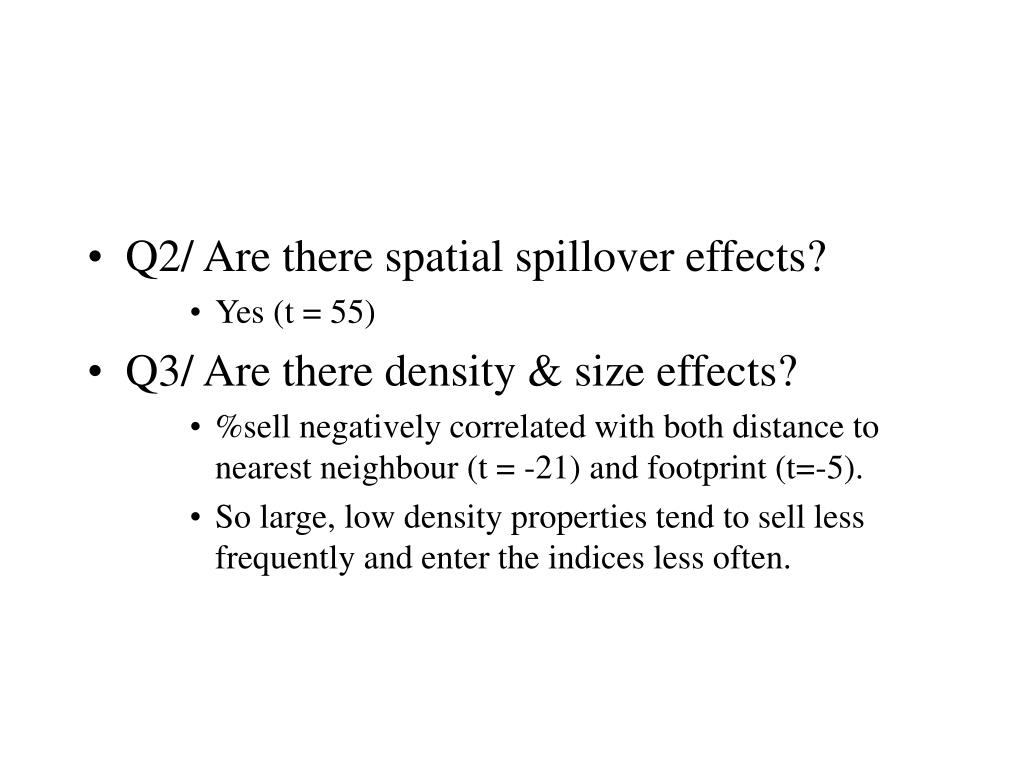 Q2/ Are there spatial spillover effects?