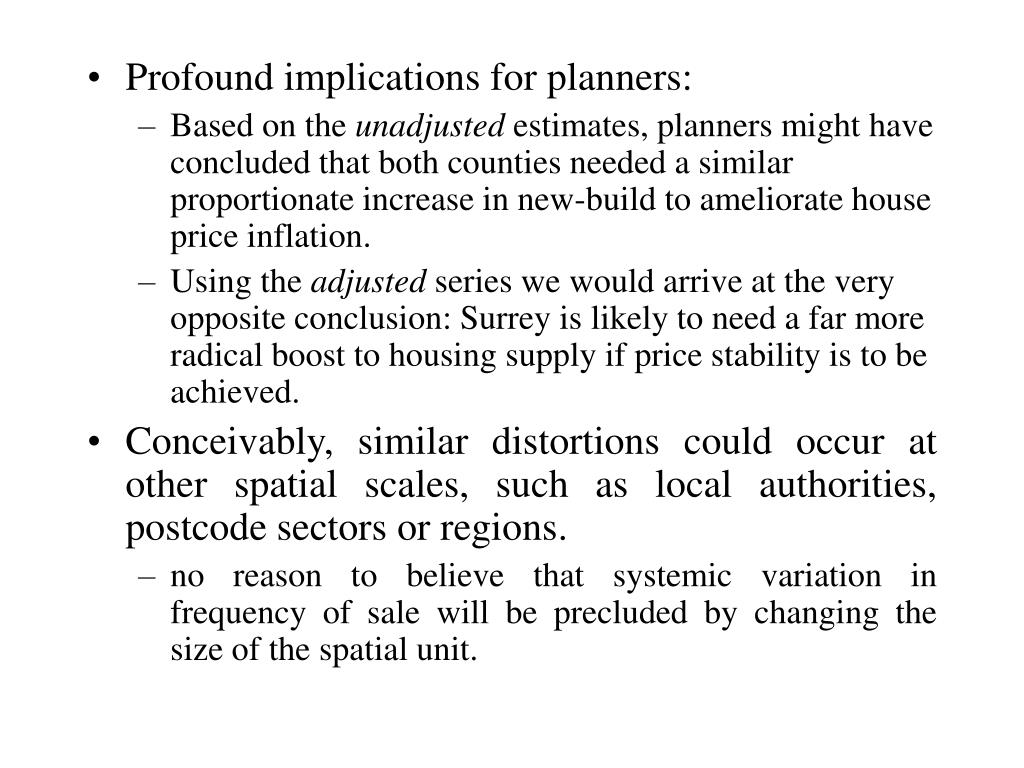 Profound implications for planners: