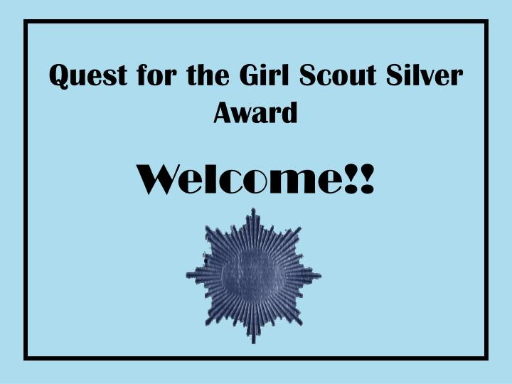 Quest for the girl scout silver award