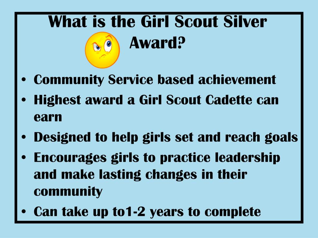 What is the Girl Scout Silver Award?