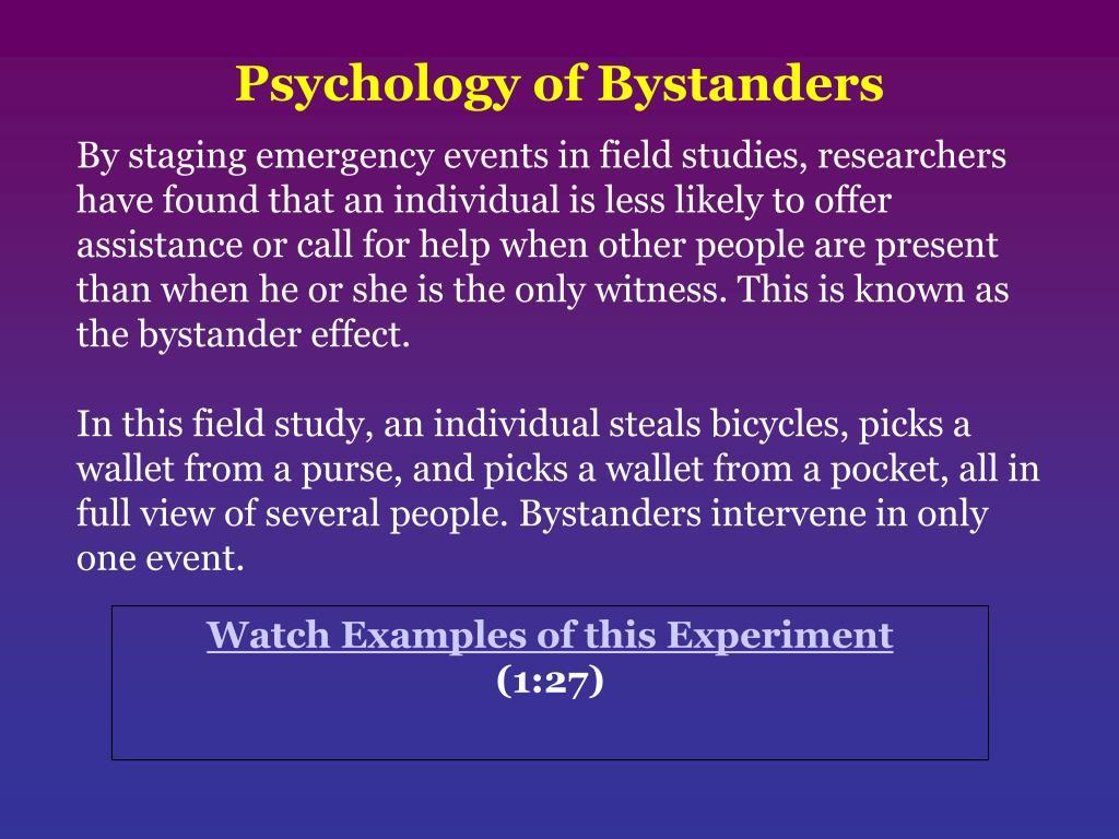 Psychology of Bystanders