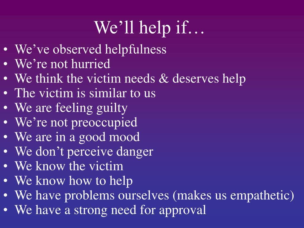 We'll help if…