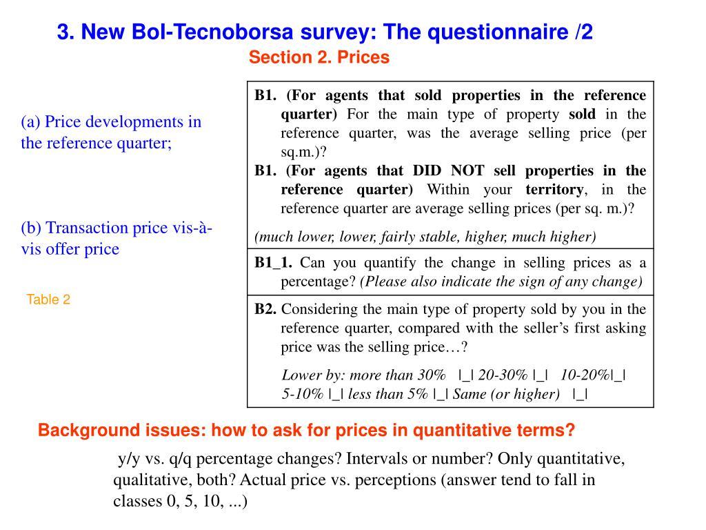 3. New BoI-Tecnoborsa survey: The questionnaire /2