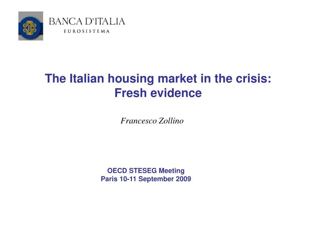 The Italian housing market in the crisis: