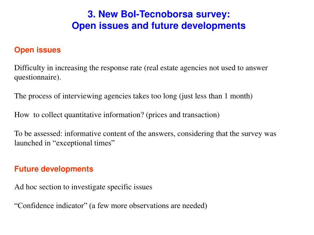 3. New BoI-Tecnoborsa survey: