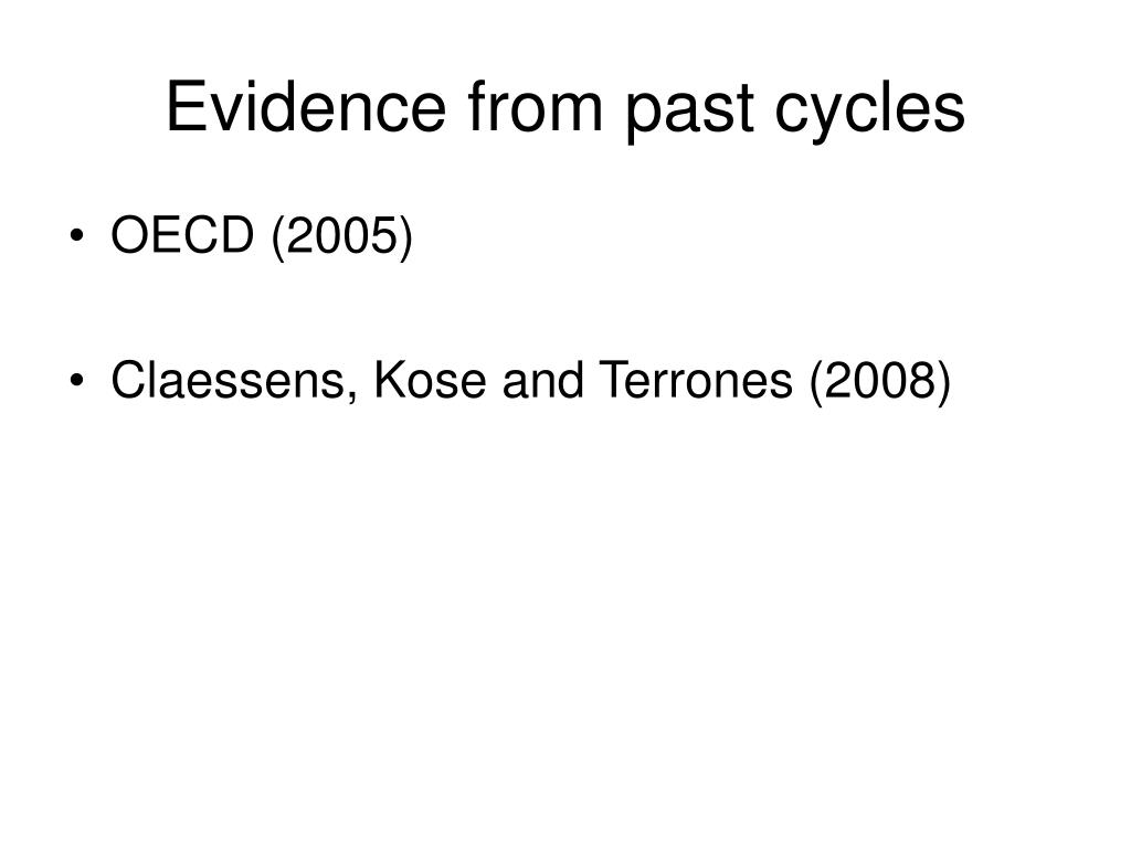 Evidence from past cycles