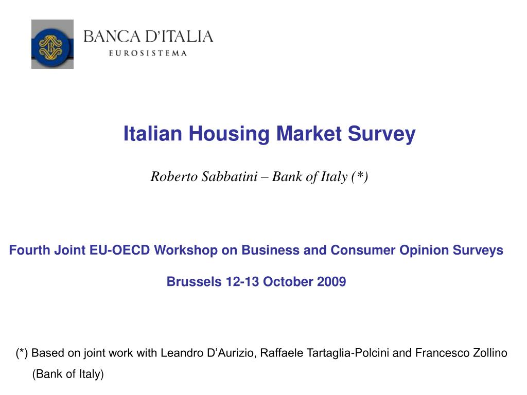 Italian Housing Market Survey