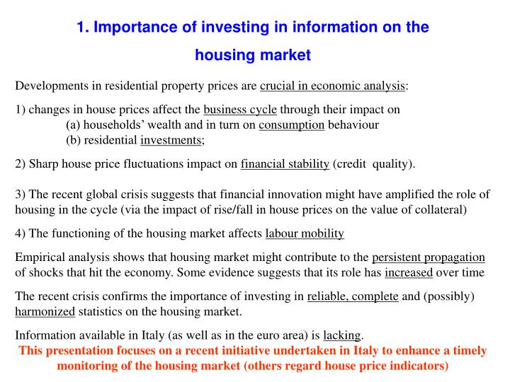 1. Importance of investing in information on the