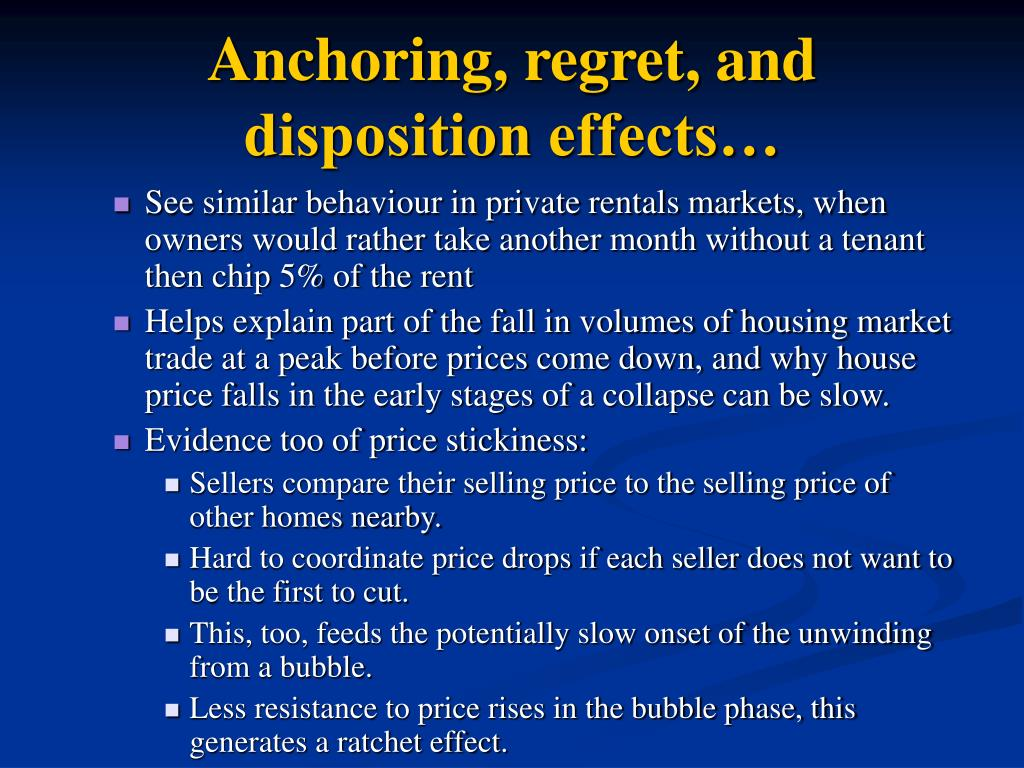 Anchoring, regret, and disposition effects…