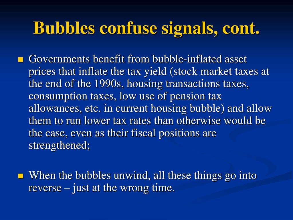 Bubbles confuse signals, cont.