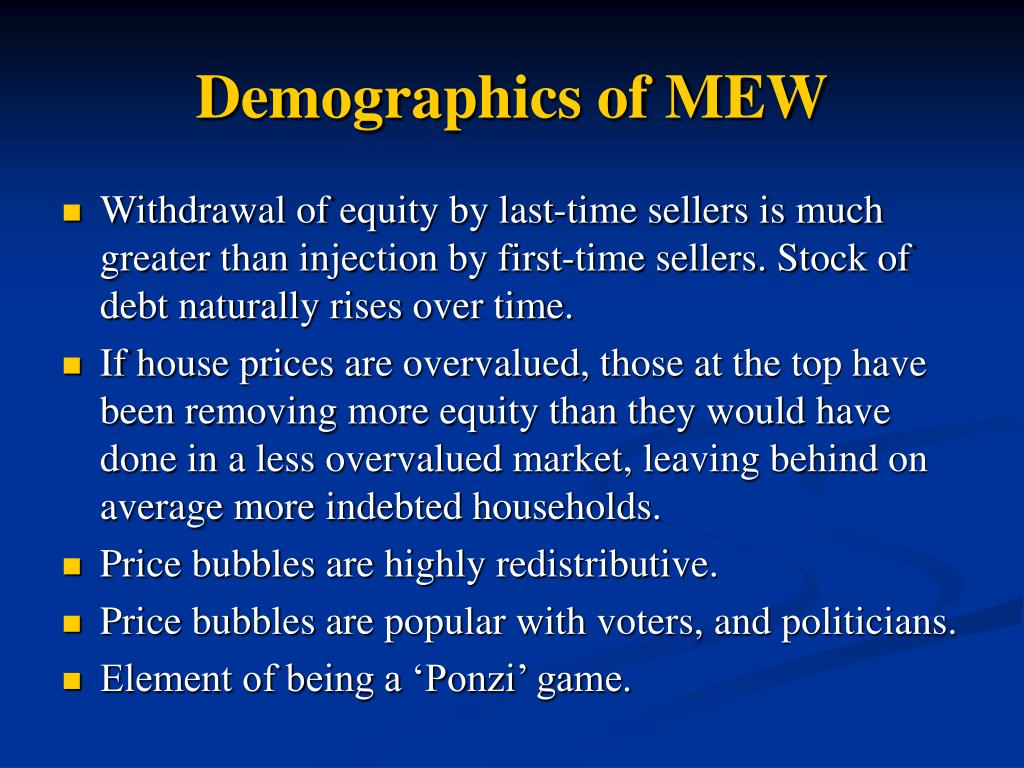 Demographics of MEW
