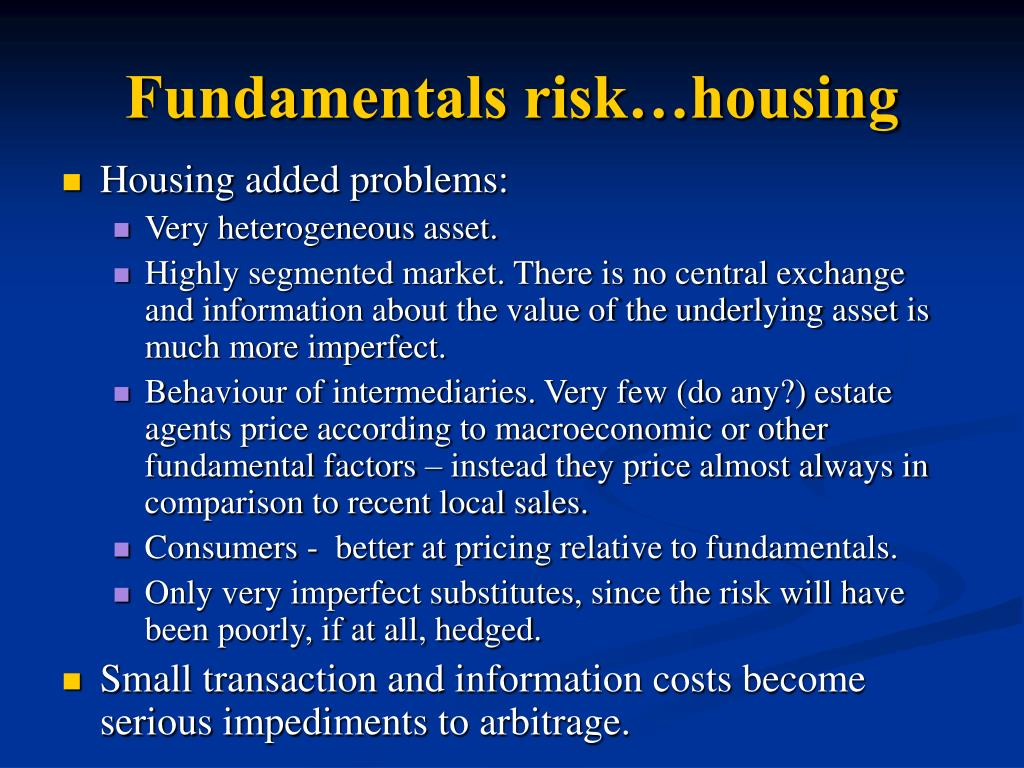 Fundamentals risk…housing