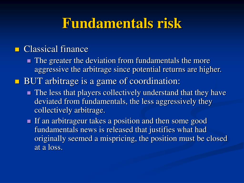 Fundamentals risk