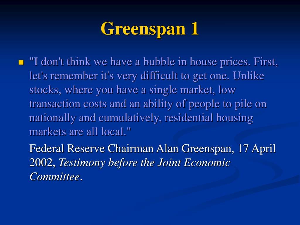 Greenspan 1