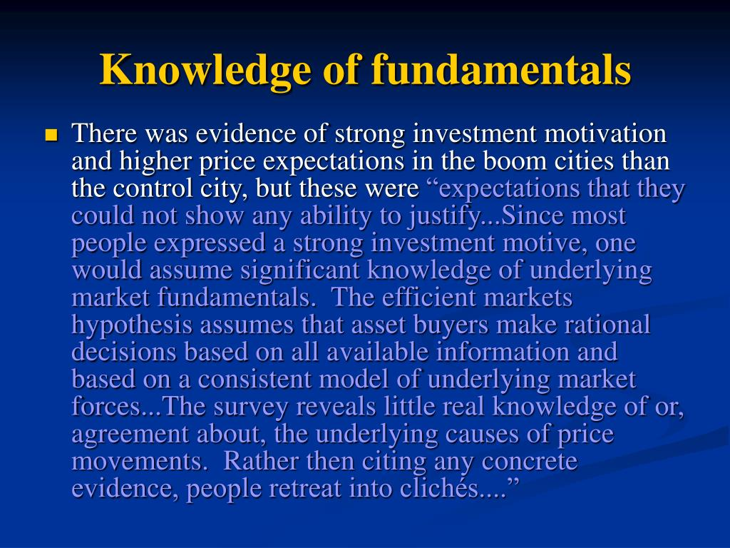 Knowledge of