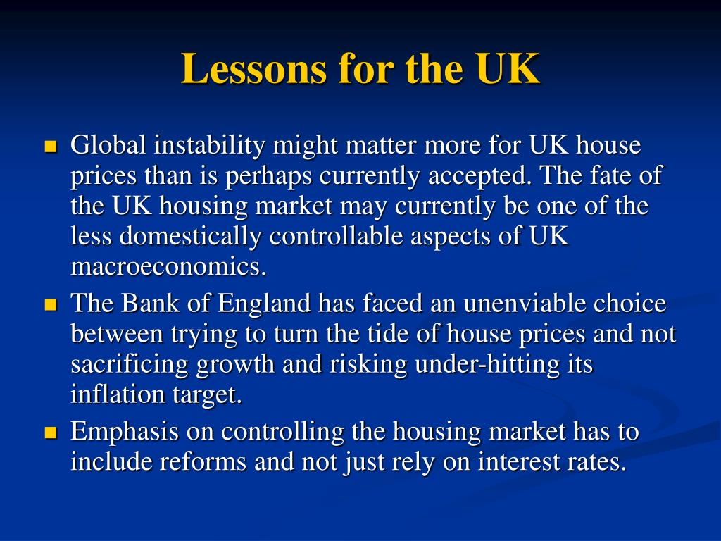 Lessons for the UK