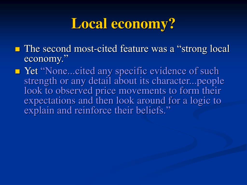 Local economy?