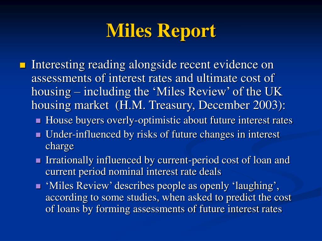 Miles Report
