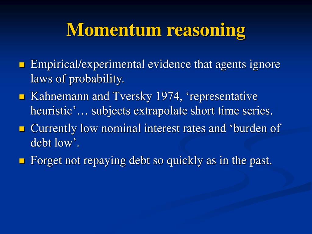 Momentum reasoning