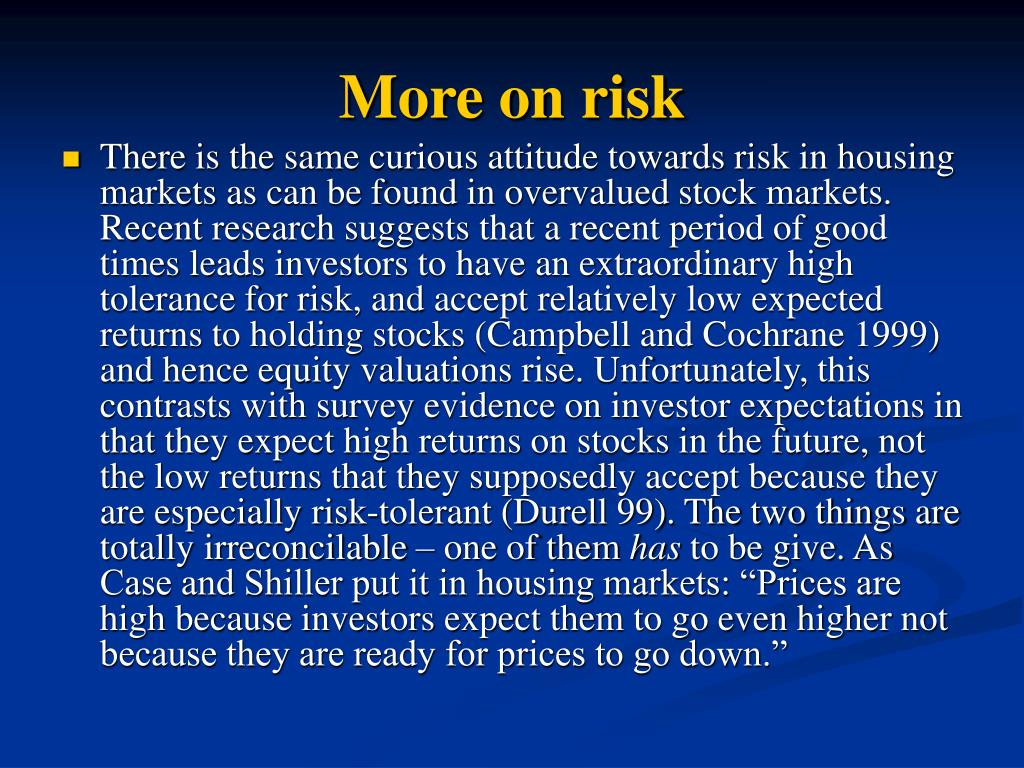 More on risk