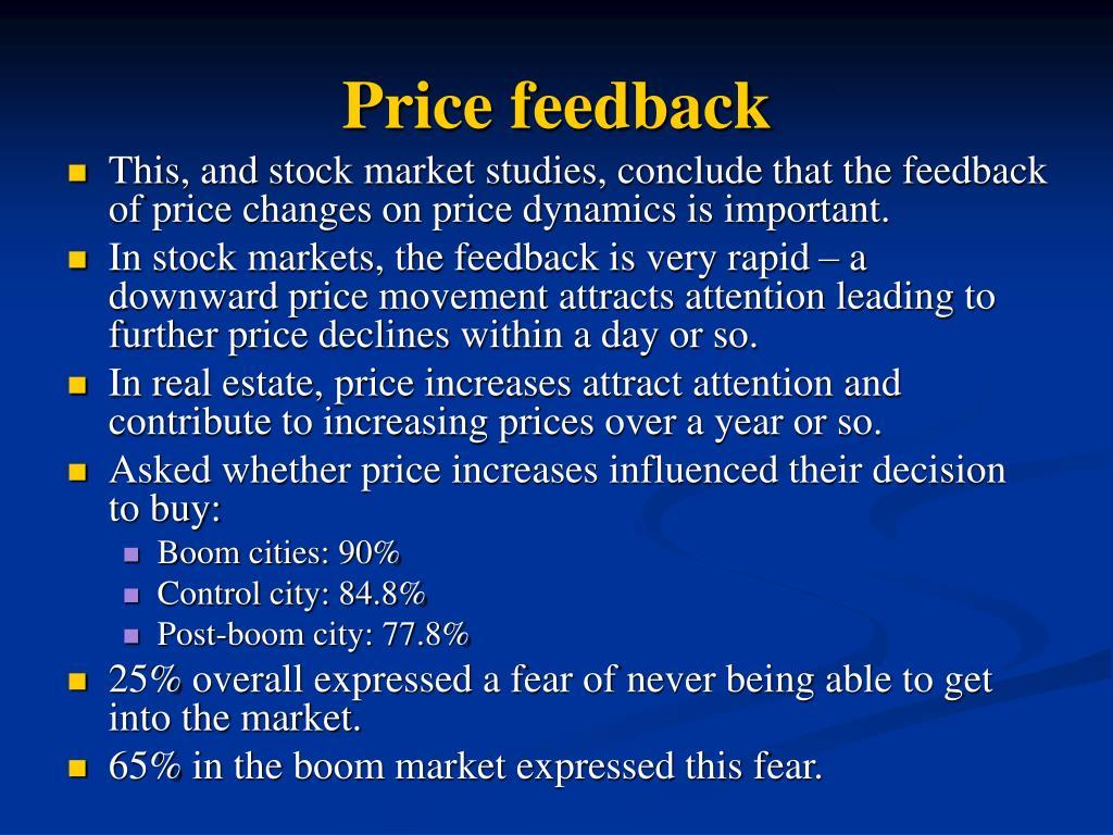 Price feedback