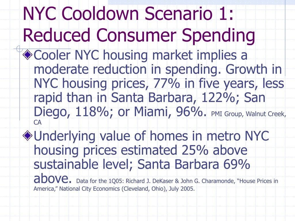 NYC Cooldown Scenario 1: Reduced Consumer Spending