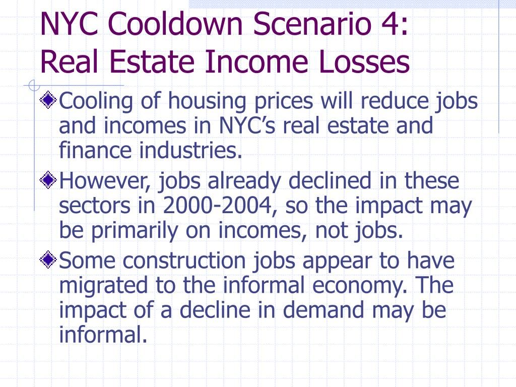 NYC Cooldown Scenario 4: Real Estate Income Losses
